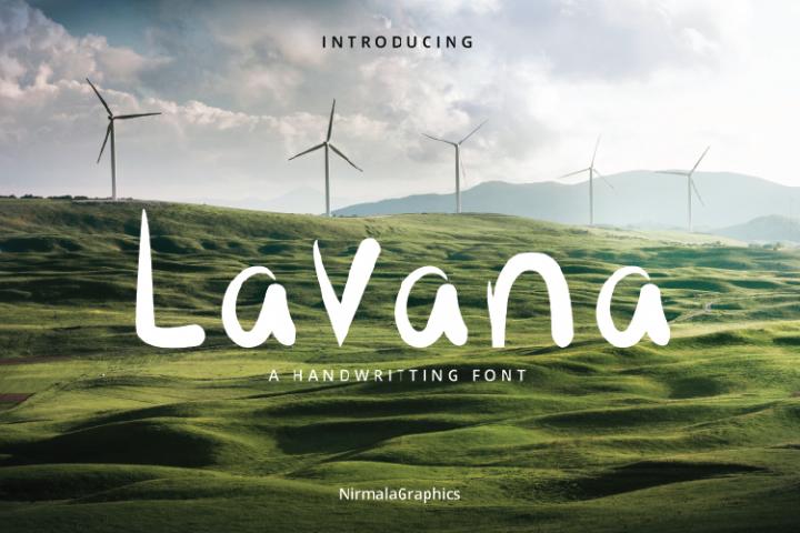 Lavana - Handwritting Font