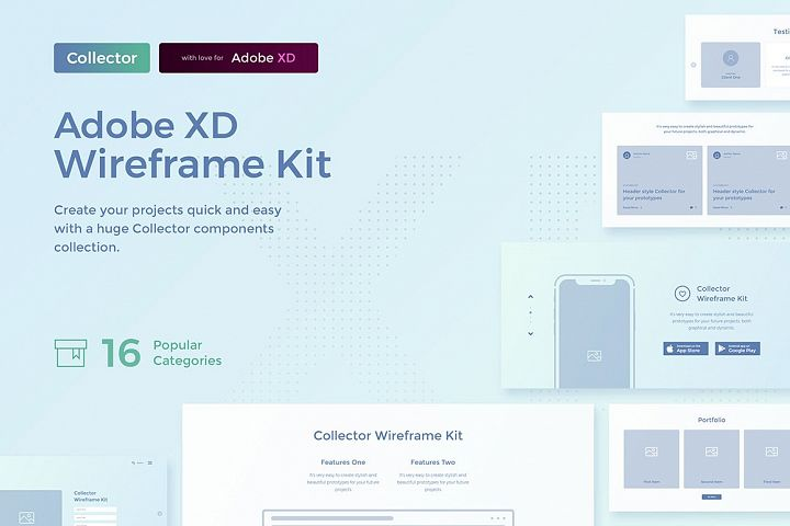 Collector Wireframe Web Kit