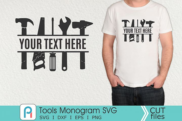 Tools Monogram Svg, Tools SVG, Carpenter Svg, Carpenter Dxf