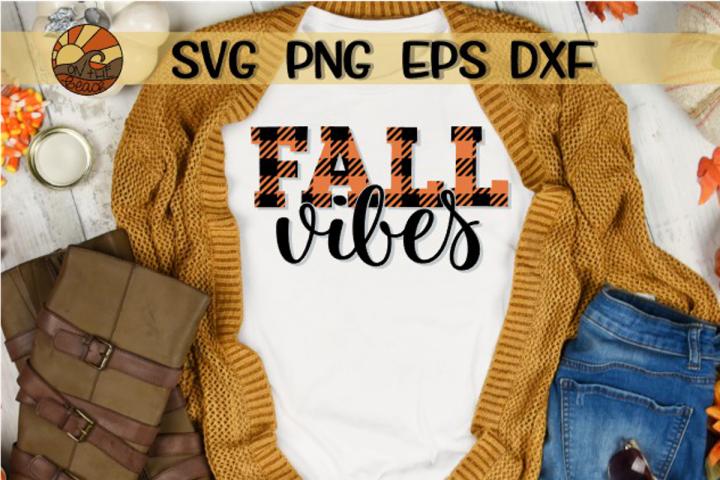 Fall Vibes - Buffalo Plaid - SVG DXG PNG EPS example