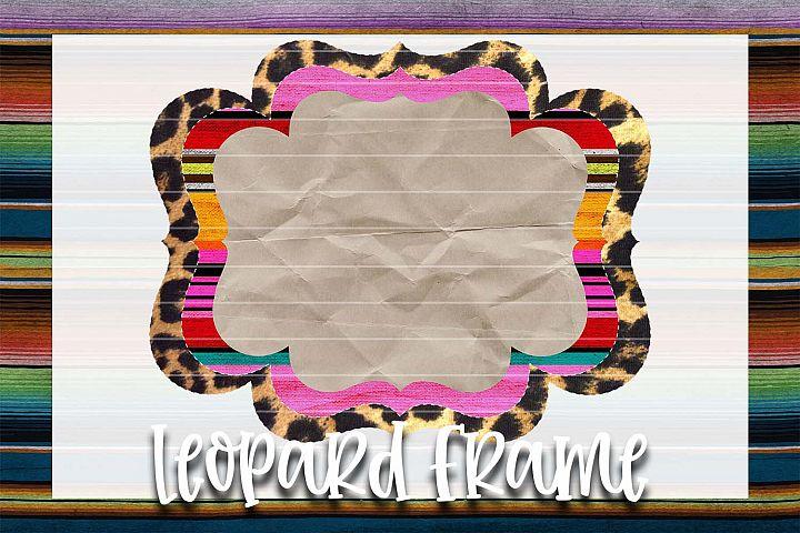 Serape & Leopard Frame Background Element