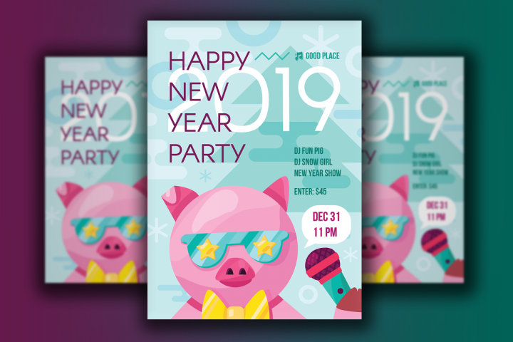 2019 Happy New Year Poster
