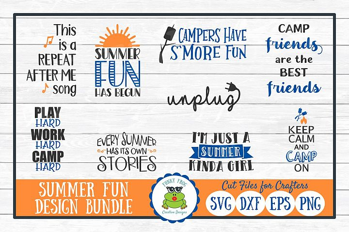 Summer Fun Design Bundle, SVG Cut Files for Crafters