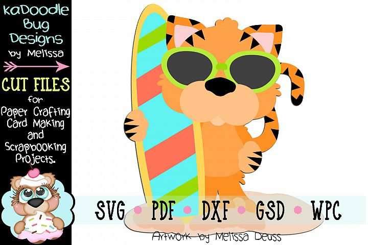 Ready To Surf Tiger Cut File - SVG PDF DXF GSD WPC