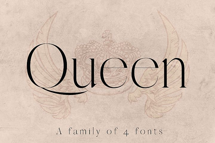 QUEEN, An Elegant Serif Font