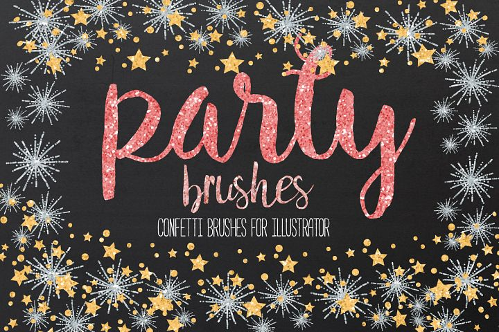 Confetti Brushes for Illustrator