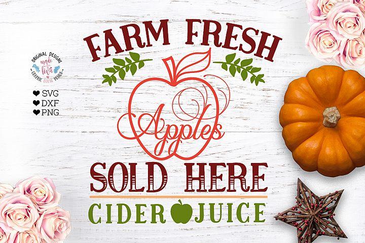 Farm Fresh Apple - Farm Sign