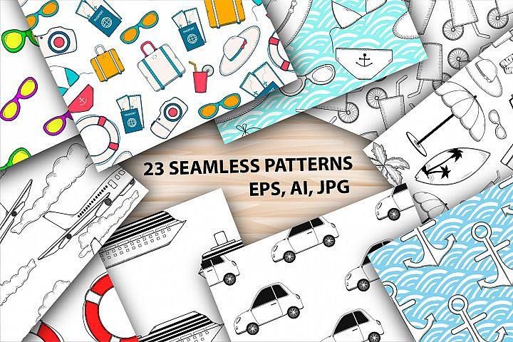 23 Summer digital paper. Ai, EPS, JPG