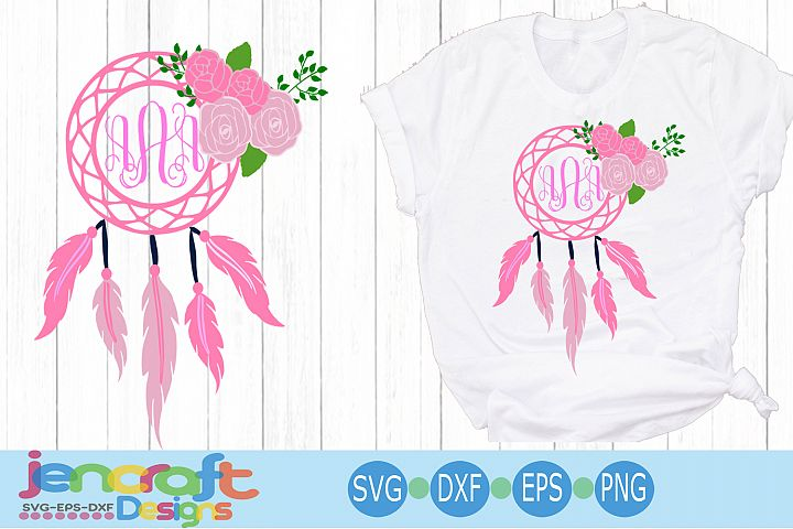 Dream Catcher Monogram frame SVG, Dreamcatcher svg, eps dxf