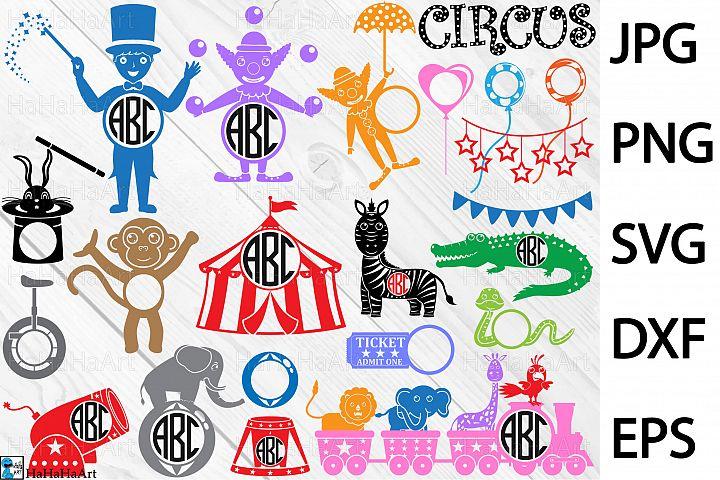 Monogram Circus Carnival - Clip art / Cutting Files 161c