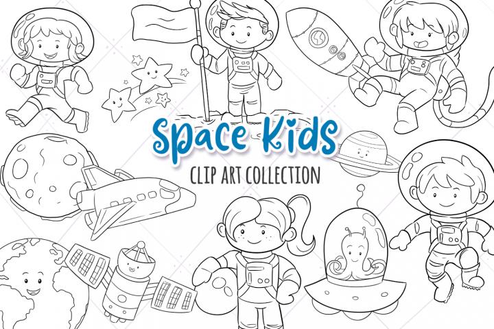 Space Kids Science Digital Stamps