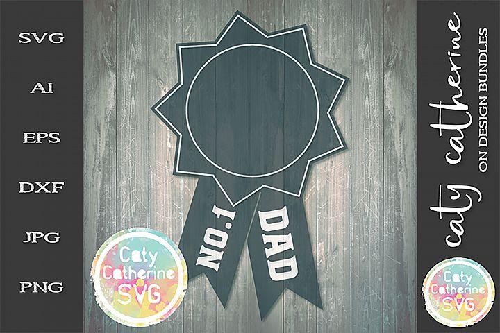 No 1 Dad Fathers Day Award SVG Cut File