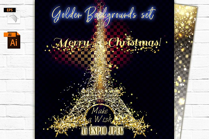 Golden Christmas backgrounds