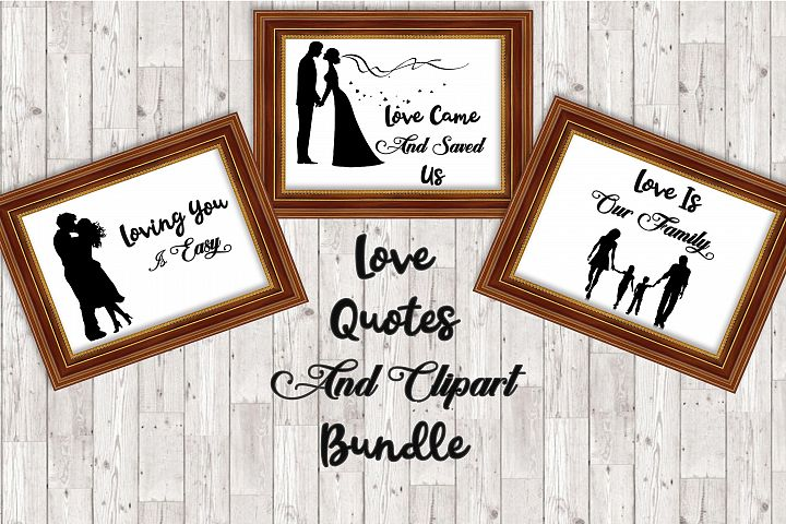 Love Quote Bundle and Clipart set SVG and PNG Commercial Use