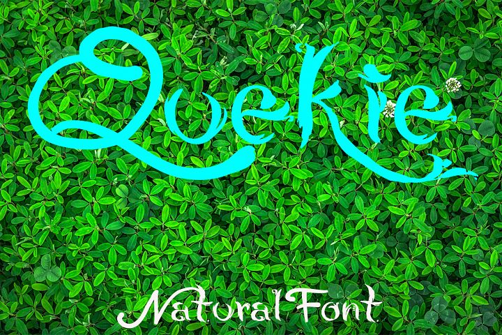 QUEKIE Natural Font