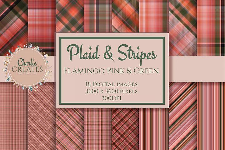 dfPlaid & Stripes - Flamingo pink