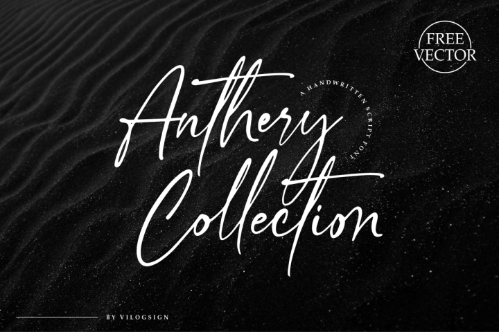 Anthery Collection a Handwritten Script Font