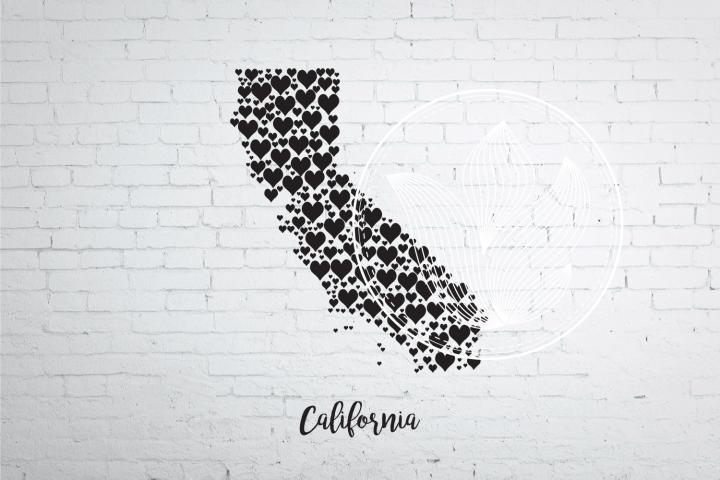 California heart map jpg, png, eps, svg, dxf, pdf
