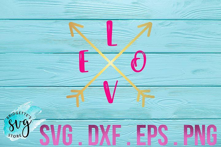 Valentine SVG Arrow SVG Cutting File