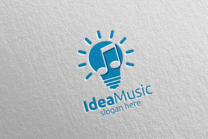 Idea Music Logo with Note Concept 42