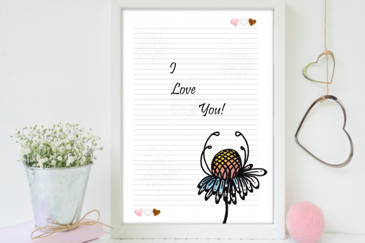 Magical Garden Printable Letter Paper