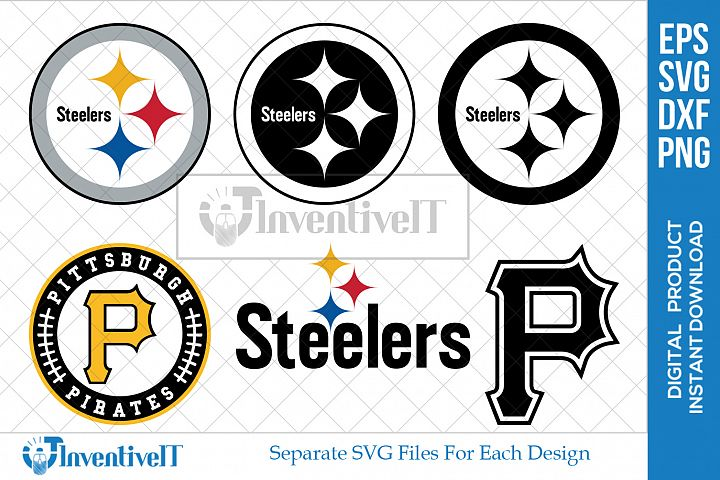 Pittsburgh Pirates | Pittsburgh Steelers Sports Logo | Icon