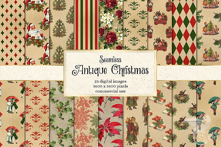 Antique Christmas Digital Paper