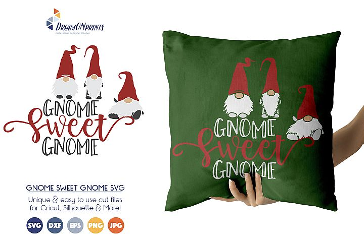 Gnomes Sweet Gnome SVG Cut Files