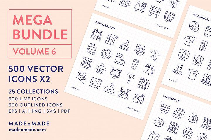 Line Icons - Mega Bundle Vol 6
