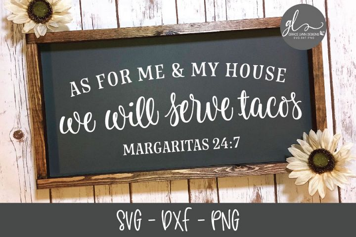 As For Me And My House-Digital Cutting File - SVG, DXF, PNG