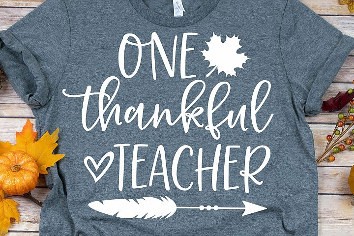 One Thankful Teacher SVG, DXF, PNG, EPS