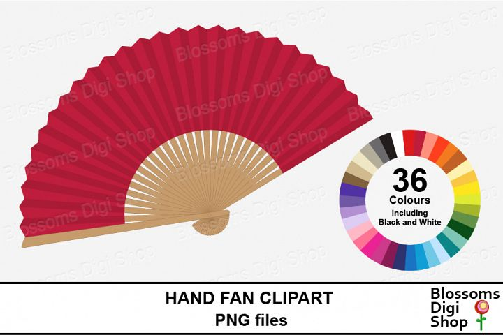 Hand Fan Clipart