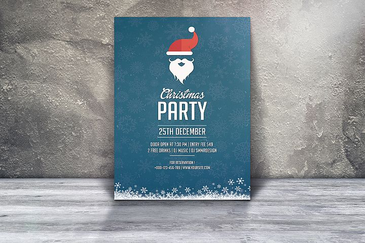Santa Christmas Flyer Template