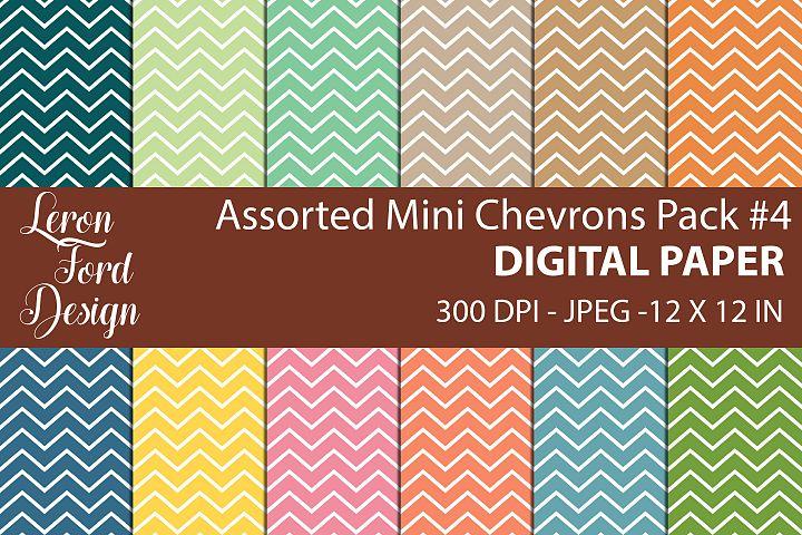 Assorted Mini Chevrons Pack #4 Digital Paper