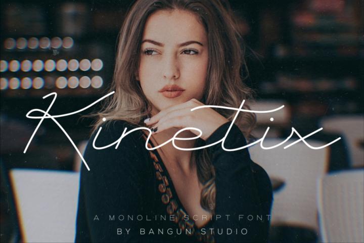 Kinetix - A Monoline Script Font