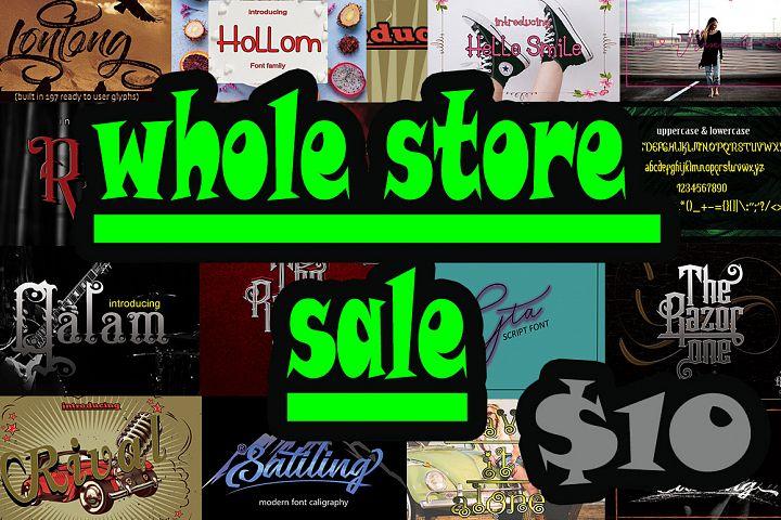 whole store sale