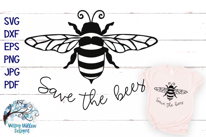 Save the Bees SVG   Bee SVG Cut File