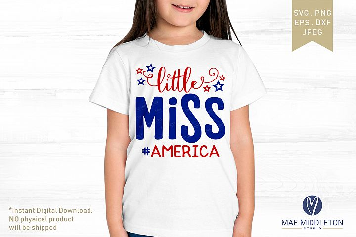 Little Miss America svg cut files 2 design options