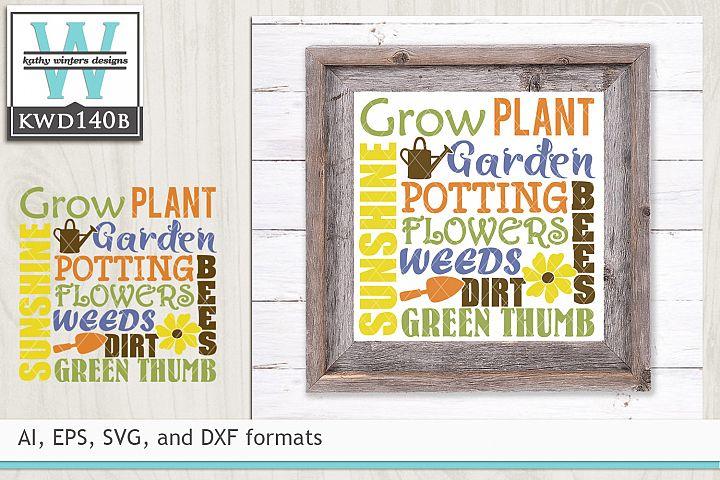Gardening SVG - Gardening Subway Art