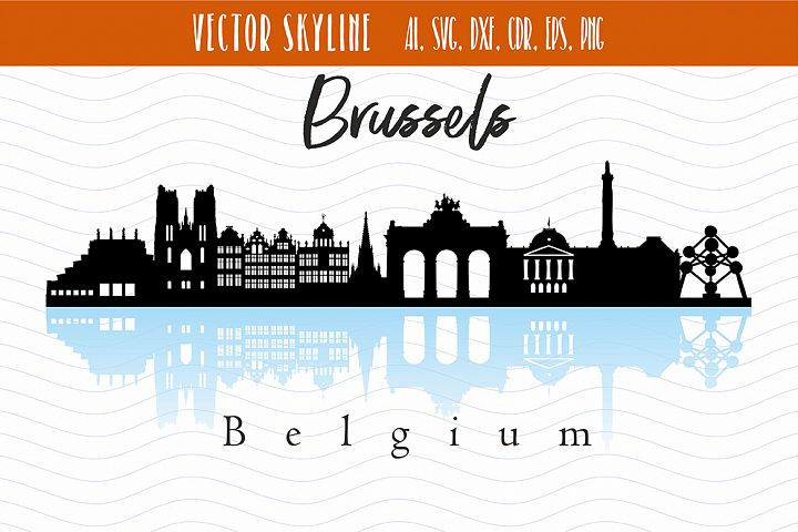 Brussels City Skyline SVG