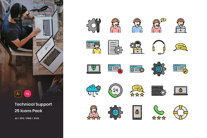 Technical Support Icons Pack