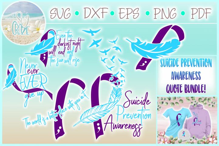 Suicide Prevention Awareness Bundle Svg Dxf Eps Png PDF