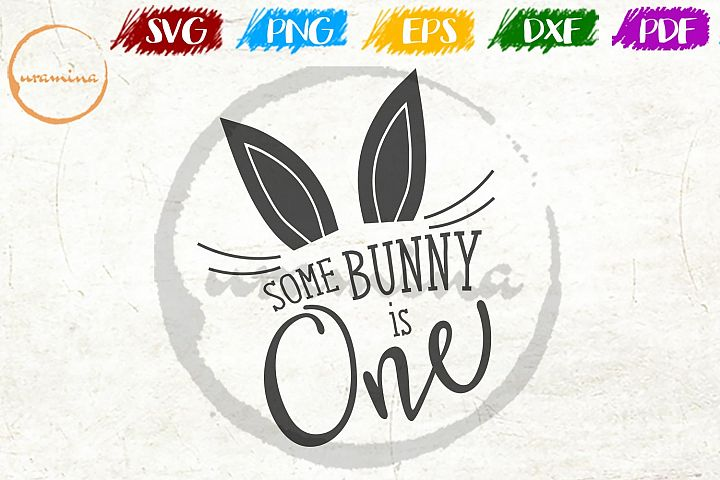 some bunny is one Easter SVG DXF PDF PNG