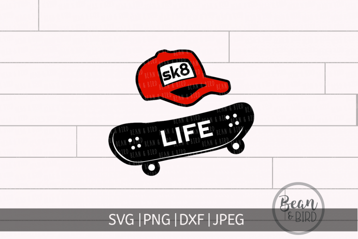 Skate Life Sports Svg Cut File