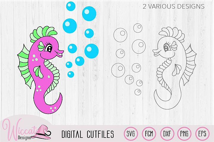 SVG Sea horse, Sea animal svg, scanncut, cricut design
