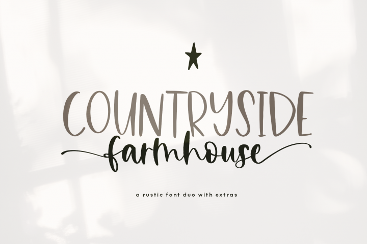 Countryside Farmhouse - A Font Duo with Doodles
