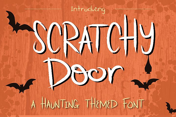 Scratchy Door Halloween Font