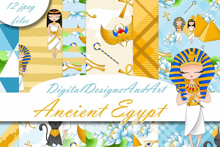 Ancient Egypt digital paper