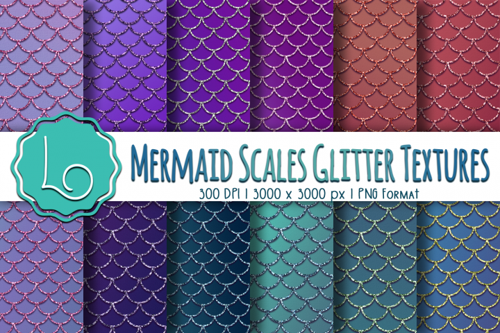 Mermaid Scales Glitter Textures