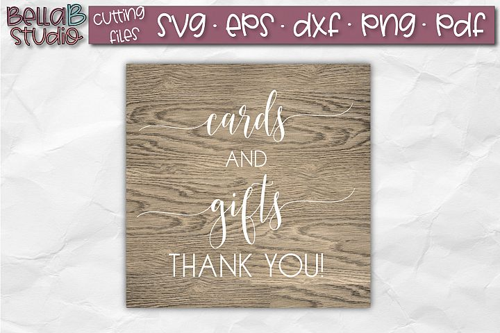 Wedding Sign SVG, Cards and Gifts SVG, Wedding SVG